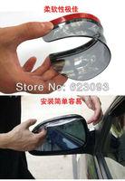New Smart Flexible Plastic Car Rear view mirror Rain Shade Guard Water Sun Visor Shade Shield Black