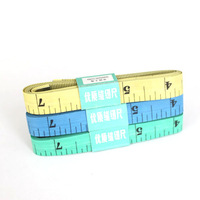60PCS/LOT 60INCH/150CM Colored Flexible Plastic Ruler 150cm Length Both Sides Inch and CM Tailoring Tape Measure Metal Head 742