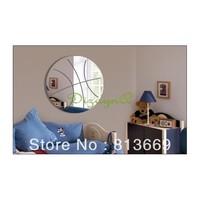 free shipping (2 piece/set) boy's bedroom basketball wall mirror decor room diy 3D creative house decorations
