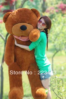 "M'lele 180cm-71"" retail PP cotton Super huge teddy bear white grown color christmas gift"