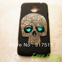 Retro Style Skull Green Eyes Cell Phone Protection shell MObile Phone case For  HTC EVO 4G LTE