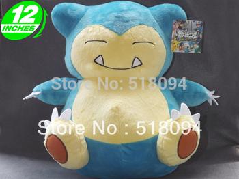 "Japanese Anime Cartoon Pokemon Snorlax Plush Toy Plush Doll Figure Toy 12"" Chritmas Brithday Gift Free Shipping"