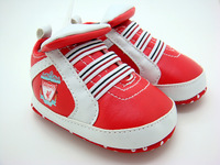 SanFu---baby boy and girl red leather first walker shoes home size 2 3 4 in US free shipping
