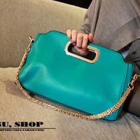 2013 women's handbag bag shoulder bag multicolour stripe women's bags cross-body bag chain