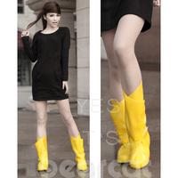 Free shipping Bearcat women's fashion rainproof shoes cover rainboots overstrung water shoes rain boots