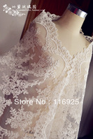 2013 Bridal Wedding Formal Dress Lace Cape Lace Decoration, 42cm Wide, Corded Lace Trim
