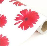 Pvc wallpaper flower wallpaper sticky notes furniture stickers wallpaper
