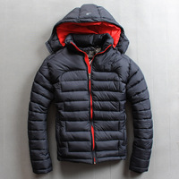 High quality silk cotton male thermal thickening wadded jacket fashion male cotton-padded jacket cotton-padded jacket coat plus