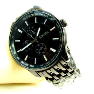Free Shipping Promotion The Fashion Popular Famous Brands Man Watch Stainless Belts With Three Big Dial Wrist Watches For Men(China (Mainland))