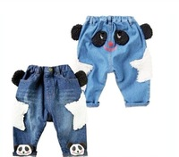 free shipping  2013 new best quality fashion Children Jeans cute cartoon boy's Jeans