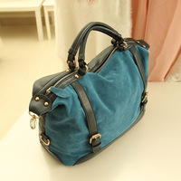 Bag cobalt blue nubuck leather imitation chamois women's handbag all-match shoulder bag handbag bag