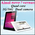 2013 New version Ainol Novo 7 Venus Novo 7 Myth 7 Inch IPS Quad core Cortex A9 Family 1.5GHZ Android 4.1 1GB/16GB tablet pc