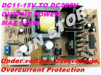 Free shipping DC-DC Step Up Converter 11-15V  To 280V DC Boost Converters With Undervoltage Overvoltage Overcurrent Protection