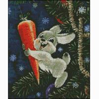 Cross stitch cartoon series big white rabbit animal 0389