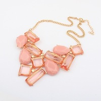Min.order is $10 (mix order) 42M43 Korer hot sals candy color swet Geometric necklace Wholesale !Free shipping!