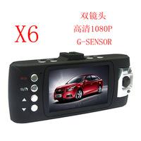 Manufacturers, wholesale X6 Dual Lens Novatek HD 1080P gravity sensing tachograph free shipping