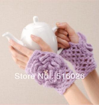 wholesale women hand crochet fingless glove, sexy women accessory, hand jewelry, Lace, short elegant fingerless glove 2pair/lot