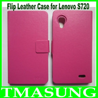 2013 Free shipping new Flip leather Case For lenovo S720 phone in stock
