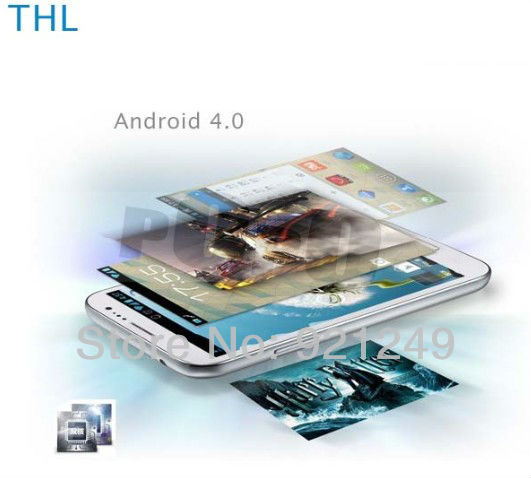 2013 New Original THL W7 5.7&quot; IPS Cellphone MTK6577 Dual Core 1.0GHz 1GB RAM 4GB Android 4.0 WCDMA Brand Phone In Stock(China (Mainland))