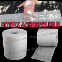 Hot fix paper & tape 6M length/Lot ,24CM wide adhesive iron on heat transfer film super quality for HotFix rhinestones DIY tools