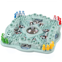 Penguin flight chess penguin drauhghts parent-child fashion popular educational toys desktop
