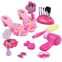 Child cosmetic toys juniors cosmetics toy electric suction blower set