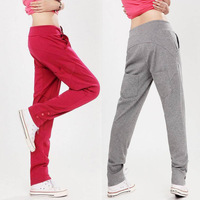 Free shipping!! Plus size spring sports pants female health pants thin casual trousers yoga pants