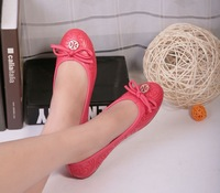 Free shipping 2013 new women cow leather flatform shoes boat shoes ladle shoes single shoes with size 4 to 9