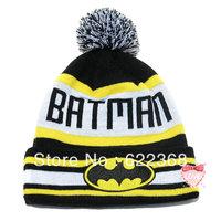 Batman cartoon knitted hat beanie knitted hat winter hap knitted hat boy hip-hop cap