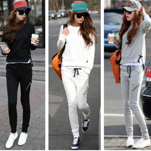 2013 spring female sweatshirt set women outerwear spring and autumn female casual long-sleeve pullover baseball uniform