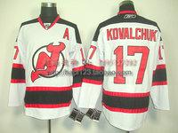Nhl hockey clothing devil new jersey devils 17 kovalchuk white jersey