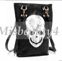New Arrival Sexy Women's Clothes Accessory Bags Skull Head Black PU Punk Woman Shoulder Bag