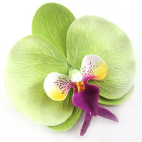 10 Big Phalaenopsis Heads Artificial Flower - Silk Flowers 3.75 inches green