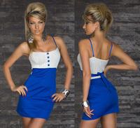 mini dress Punk Rivets Bra Top Sexy Club Mini Dress 2013 New Fashion For Summer Women Dress Black Blue Red   Free Shipping