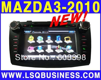 2Din 8 Inch TFT LCD Digital Touch Screen Car DVD Player with GPS for  Mazda3 2010 Bluetooth Double Steering wheel control