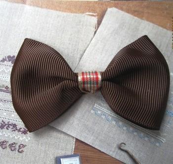 Diy handmade laciness coffee bow large child clothes accessories hair accessory hair accessory applique