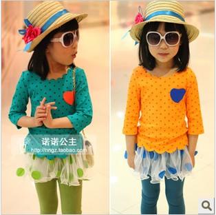 ملابس الاطفال صيف 2013 Princess-female-child-2013-spring-loving-heart-applique-wave-edge-t-shirt-basic-shirt.jpg