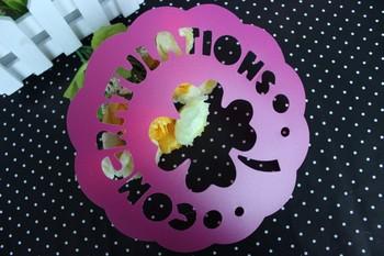 6 piece set cake spray membrane transfer printing film cake baking tools mould cake stencils