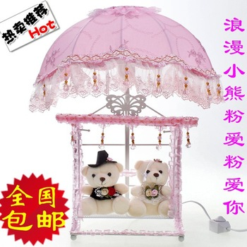 Wedding supplies lovers wedding bear swing lamp table lamp home decoration lamp wedding gifts gift decoration
