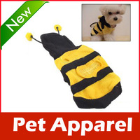 Bumblebee Dog Halloween Costume Clothes Pet Apparel Bumble Bee Dress Up