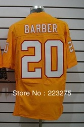 Free shipping ! American football Men&#39;s Tampa Bay #20 Barber Yellow Color Elite Throwback Jerseys(China (Mainland))