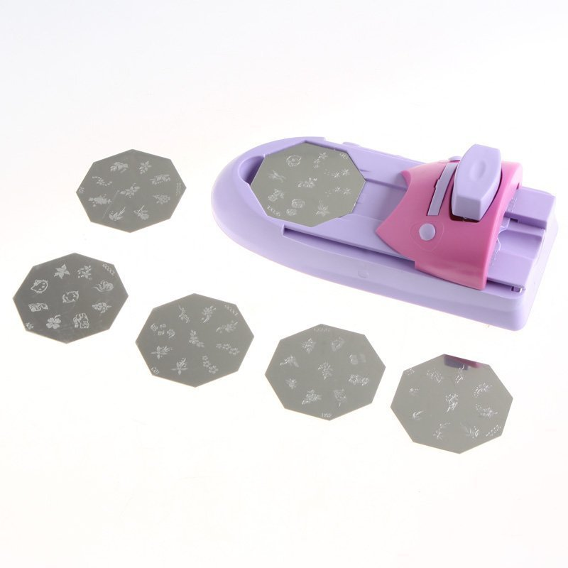 Nail Art Printer DIY Pattern Printing Manicure Machine Stamp Stamper Tool Set H8020 Free Shipping(China (Mainland))