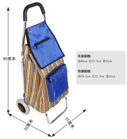 Free shipping shopping car bags Trolley Foldable shopping cart luggage cart's barrow's small trailer