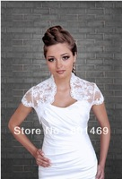 Hot 2013 Ivory/White Ivory/White Lace Bolero Shrug  Short  Sleeves Bridal Jacket Wedding Jacket  Bridal Jacket