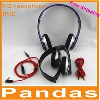 Hongkong post New Arrival HD headphone with controltalk 2 cables retail box for dj headphones