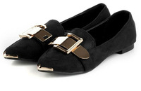 Free  shipping 2013 spring new women's girl Comfort Suede Simple Style Casual Flat Shoes