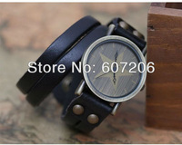 New style Vintage edition five-pointed star double handmade cowhide wonen watch vintage watch genuine cow leather watch