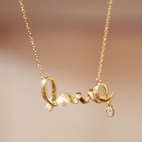 Cheapest Fashion Love Necklace Women Accessories Necklace Free Shipping 24pcs/lot