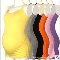 2014 spring maternity basic shirt plus size candy color small vest 6