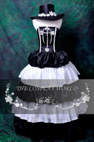 Free Shipping High Quality One Piece Perona Full Dress Lolita Anime Cosplay Costume corset satin ball gown floor length